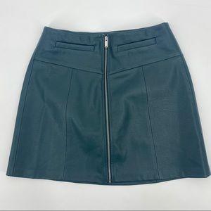 Bershka Hunter Green Mini Skirt With Front Zipper